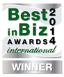 Best in Biz Awards 2014 International silver winner logo