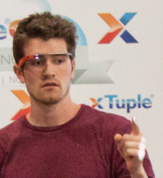 Developer Travis Webb demonstrates xTuple for Google Glass