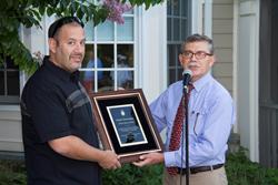 Lido President Francesco Isgro Presents Public Service Award to Mario Mastrangelo