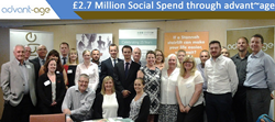 Social Spend Through advant~age Reaches Over £2.7 Million