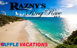 Razny Ring Race second place prize provided by Apple Vacations