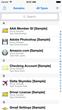 screen shot of SplashID Safe on an iPhone