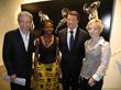 Dominque Jaussein, Lea Legrand, Mayor of Nice Christian Estrosi, Veronique Champion at the Dark Room Galerie Inauguration. ©copyright 2014 Dark Room Galerie