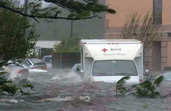 Flooded Ambulance during Hurricane Katrina