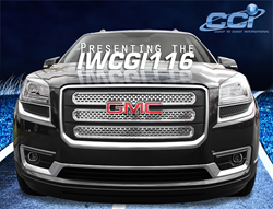 Shown installed: CCI grille overlay for the GMC Acadia.