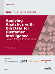 image of the 2014 TDWI Checklist Report on Advanced Analytics