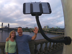 The GripSnap makes any ferrous metal surface an easy mount for your smartphone or camera