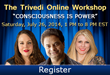 Mahendra Trivedi to Host an Online Workshop 'Consciousness is Power'