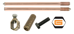 ground rods, ground rod couplings, clamps, connectors, grounding, ground rod driver