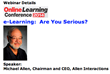 Upcoming Training Magazine Hosted Webinar with Michael Allen...