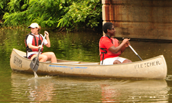 Paddling on the Chesapeake and Ohio Canal.