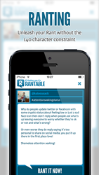 'Rantable', the new social sharing app that shares rants in the...