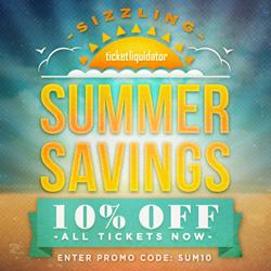 Save Ten Percent at Ticket Liquidator