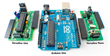 Physical comparison between Arduino Uno and Versalino Uno/Nano