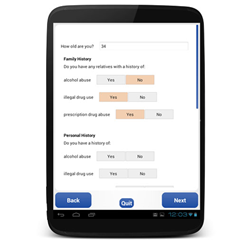 Android Tablet-based Patient Questionnaire for Opioid Risk
