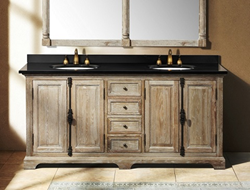 "Providence 72"" Double Bathroom Vanity In Driftwood 238-105-5711 From James Martin Furniture"