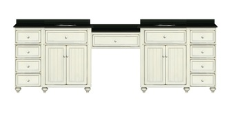 Sagehill Designs Toby 120 Modular Double Bathroom Vanity With Drawers And  Makeup Station HomeThangs Com Has Introduced A Guide To Building A Bathroom
