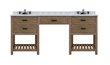 "Toby 84"" Modular Double Bathroom Vanity With Makeup Station From Sagehill Designs TB8421D-M"