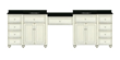 "Cottage Retreat 96"" Double Vanity With Makeup Station From Sagehill Designs CR9621MS"