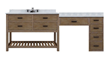 "Toby 84"" Modular Single Bathroom Vanity With Makeup Station From Sagehill Designs TB8421D1-M"