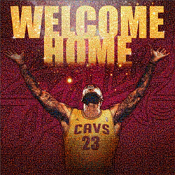 Welcome Home, Lebron Fan Mosaic