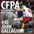 John Gallagher - 2014 CFPA Watch List