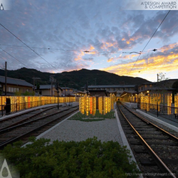 Randen Arashiyama Station Railway station by GLAMOROUS co.,ltd.