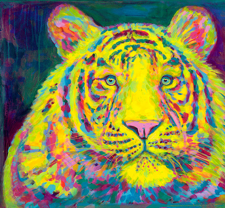 What Are Contemporary: Contemporary Artist Ricco DiStefano Creates Tiger Painting
