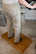 The durable anti-fatigue mats support and sooth legs, back and feet