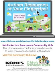 Autism, Hub, Kohl's, autism awareness, Children's Specialized Hospital