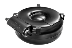 "Worthington's new doughnut-shaped, or ""toroidal,"" propane autogas fuel tank fits in the spare-tire space of a car or pickup truck, and will be available to order in mid-August."
