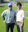 John Heo on right with Tiger CC Superintendent