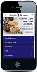 mobile site, brownie gifts