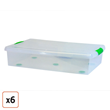 Stor-n-Slide Underbed Storage Box, Pack of 6