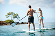 Stand-up Paddleboard on the calm waters off Wailea Beach