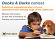 Pets Best Announces Contest to Showcase Therapy Dogs in Classrooms