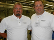 Donald Newbold (l) engineering teacher at Prince William High School, and Lee Barnes, ITAC camp director.