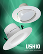 USHIO America Introduces Uphoria™ LED Downlight Retrofit Kits