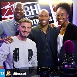 Omari Hardwick with BHL Host's Derrial Christon, Jesse Janedy and Courtney Stewart