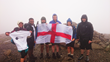 At the summit of Scafell Pike