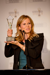 Giovanna Pozzi of Italy's RTR Rete Rinnovabile was a Gold Stevie Award winner in 2013