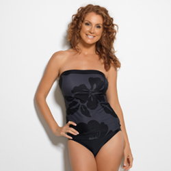 Midnight Hibiscus One-Piece Swimsuit