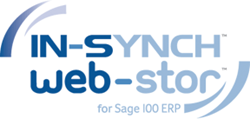 IN-SYNCH Web-Stor logo