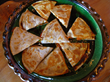 Quesadillas with Papaya and Brie