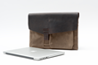 Outback Solo for 15-inch MacBook Pro Retina—waxed canvas with chocolate leather flap