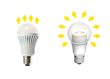 Conventional LED Bulb vs Omnidirectional LED bulb with Acrich
