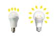 Conventional LED Bulb vs Omnidirectional LED bulb with Acrich