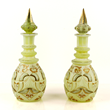 A Pair of Antique Bohemian Cut Glass Decanters
