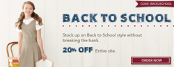 ClothingShopOnline.com Back2School Sale
