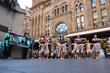 A troop of Maori singers and dancers transformed the Sydney central business district with a rousing performance of Maori song and dance to promote drug-free living.